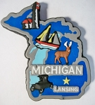 Michigan Multi Color Fridge Magnet Design 18