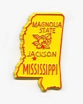 Mississippi State Outline Fridge Magnet