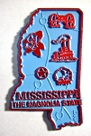 Mississippi the Magnolia State Map Fridge Magnet Design 2