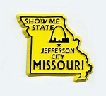 Missouri State Outline Fridge Magnet