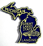 Michigan State Outline Fridge Magnet Design 10