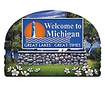 Michigan State Welcome Sign Artwood Fridge Magnet