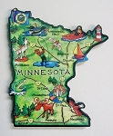 Minnesota State Outline Artwood Jumbo Fridge Magnet Design 12