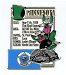 Minnesota The North Star State Montage Fridge Magnet