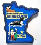 Minnesota Multi Color Fridge Magnet