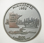 Minnesota State Quarter Fridge Magnet Design 13