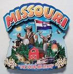 Missouri Montage Artwood Fridge Magnet Design 16