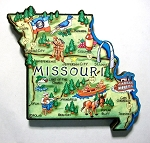 Missouri State Outline Artwood Jumbo Fridge Magnet Design 12