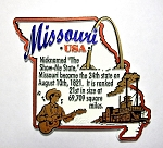 Missouri Outline Montage Fridge Magnet Design 4