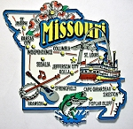 Missouri Jumbo Map Fridge Magnet Design 9