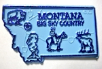 Montana Big Sky Country State Map Fridge Magnet Design 2