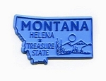Montana State Outline Fridge Magnet Design 1