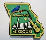 Missouri Jefferson City Multi Color Fridge Magnet Design 18