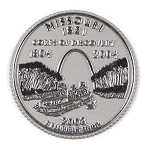 Missouri State Quarter Fridge Magnet Design 13