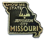 Missouri State Outline Fridge Magnet Design 10