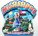 Mississippi Montage Artwood Fridge Magnet Design 16