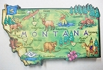 Montana State Outline Artwood Fridge Magnet Design 12