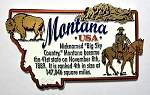Montana Outline Montage Fridge Magnet Design 4
