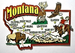 Montana Jumbo Map Fridge Magnet Design 9