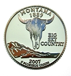 Montana State Quarter Fridge Magnet Design 13