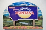 Montana State Welcome Sign Artwood Fridge Magnet Design 14