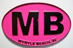 Myrtle Beach Pink Oval Fridge Magnet Design 10