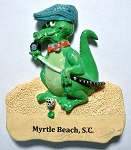 Myrtle Beach South Carolina Alligator with Margarita Fridge Magnet