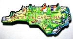 North Carolina State Outline Artwood Jumbo Fridge Magnet Design 12