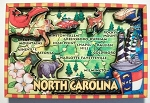 North Carolina Cartoon Magnet Fridge Design 27