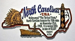 North Carolina Outline Montage Fridge Magnet Design 4