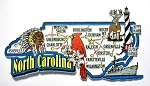 North Carolina Jumbo Map Fridge Magnet Design 9