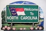 North Carolina State Welcome Sign Artwood Fridge Magnet Design 14