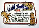 North Dakota Outline Montage Fridge Magnet Design 4
