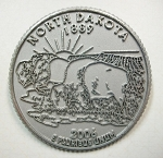 North Dakota State Quarter Fridge Magnet Design 13