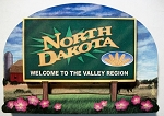 North Dakota State Welcome Sign Artwood Fridge Magnet Design 14