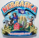 Nebraska Montage Artwood Fridge Magnet Design 16