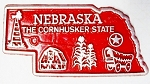 Nebraska The Cornhusker State Map Fridge Magnet Design 2