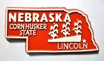 Nebraska State Outline Fridge Magnet Design 1