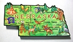 Nebraska State Outline Artwood Jumbo Fridge Magnet Design 12