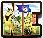 Nebraska Artwood Initial Fridge Magnet Design 19