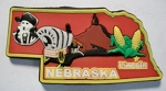 Nebraska Lincoln Multi Color Fridge Magnet Design 18