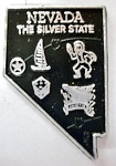 Nevada The Silver State Map Fridge Magnet Design 2