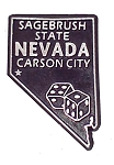 Nevada State Outline Fridge Magnet