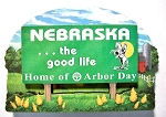 Nebraska State Welcome Sign Artwood Fridge Magnet Design 14
