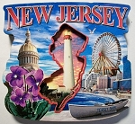 New Jersey Montage Artwood Fridge Magnet Design 27