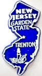 New Jersey State Outline Fridge Magnet Design 1