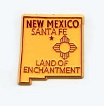 New Mexico State Outline Fridge Magnet
