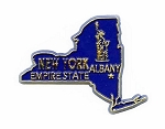 New York State Outline Fridge Magnet Design 1