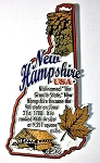New Hampshire Outline Montage Fridge Magnet Design 4
