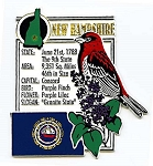 New Hampshire The Granite State Montage Fridge Magnet Design 5